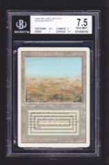 Scrubland BGS 7.5 NM+ - 3rd Edition / Revised MTG Magic Graded Card
