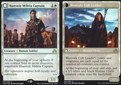 Hanweir Militia Captain // Westvale Cult Leader - Foil - Prerelease Promo