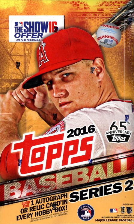 2016 Topps Series 2 MLB Baseball Hobby Box