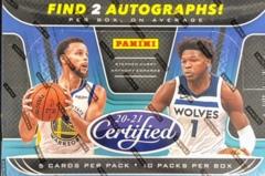 2020-21 Panini Certified NBA Basketball Hobby Box