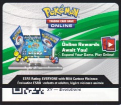 XY Evolutions - Unused Booster Pack TCGO Code Card