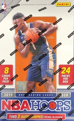 2019-20 Panini Hoops NBA Basketball Hobby Box