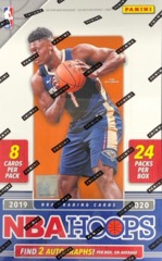 2019-20 Panini Hoops NBA Basketball Hobby Box