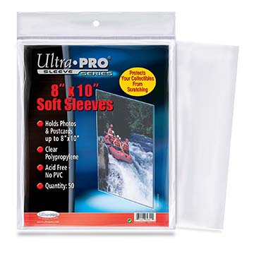 Ultra Pro 8 x 10 Soft Sleeves