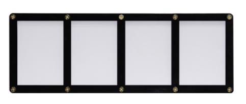 Screwdown Black-Frame 4-card Holder