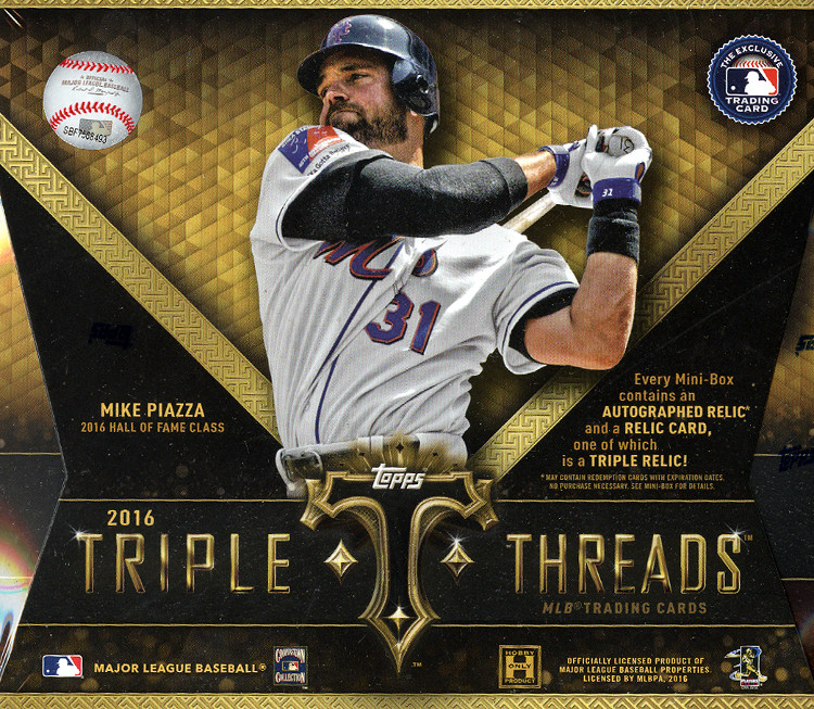 2016 Topps Triple Threads MLB Baseball Hobby Box