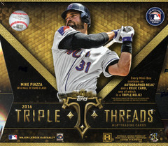 2016 Topps Triple Threads MLB Baseball Hobby Box