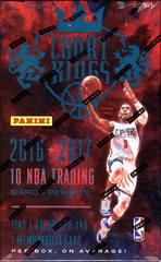 2016-17 Panini Court Kings NBA Basketball Hobby Box