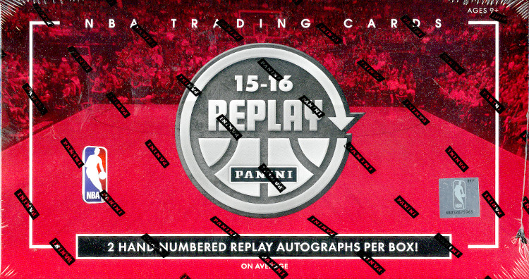 2015-16 Panini Replay NBA Basketball Hobby Box