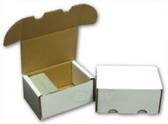 400 Count Cardboard Storage Box - White