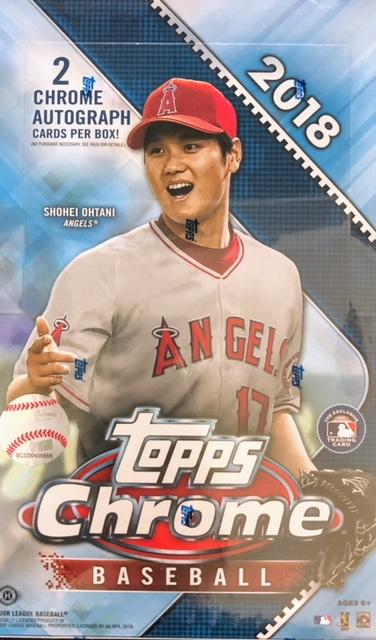 2018 Topps Chrome Mlb Baseball Hobby Box Baseball Baseball Card