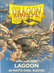 Dragon Shield 60 Count Japanese Size (YuGiOh) Card Sleeves - Dual Matte Lagoon