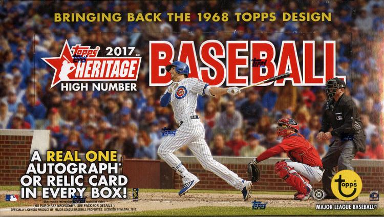 2017 Topps Heritage High Number MLB Baseball Hobby Box