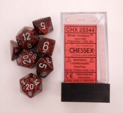 Chessex Dice - CHX25344 - Speckled Silver Volcano Polyhedral 7-Die Set