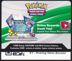XY Roaring Skies - Unused Booster Pack TCGO Code Card