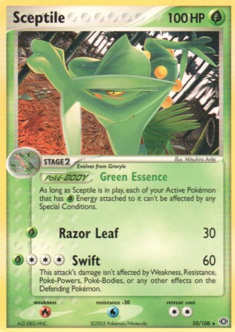 Sceptile - 10/106 - NONholo Promo Theme Deck Exclusive