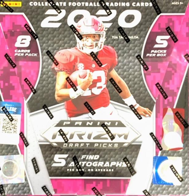 2020 Panini Prizm Draft Picks Collegiate Football Hobby Box
