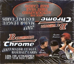 2003 Bowman Chrome MLB Baseball Retail Box