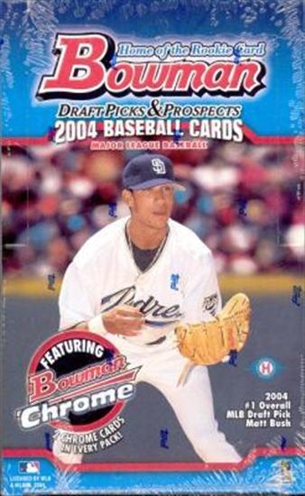 2004 Bowman Draft Picks & Prospects MLB Baseball Hobby Box