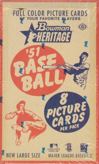 2005 Bowman Heritage MLB Baseball Hobby Box