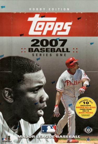 2007 Topps Series 1 MLB Baseball Hobby Rack Box