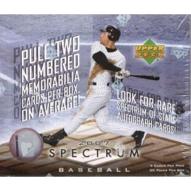 2007 Upper Deck Spectrum MLB Baseball Hobby Box