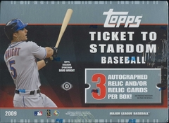 2009 Topps Ticket to Stardom MLB Baseball Hobby Box