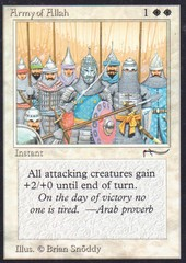 Army of Allah (V2: LIGHT GRAY COLORLESS MANA SYMBOL)