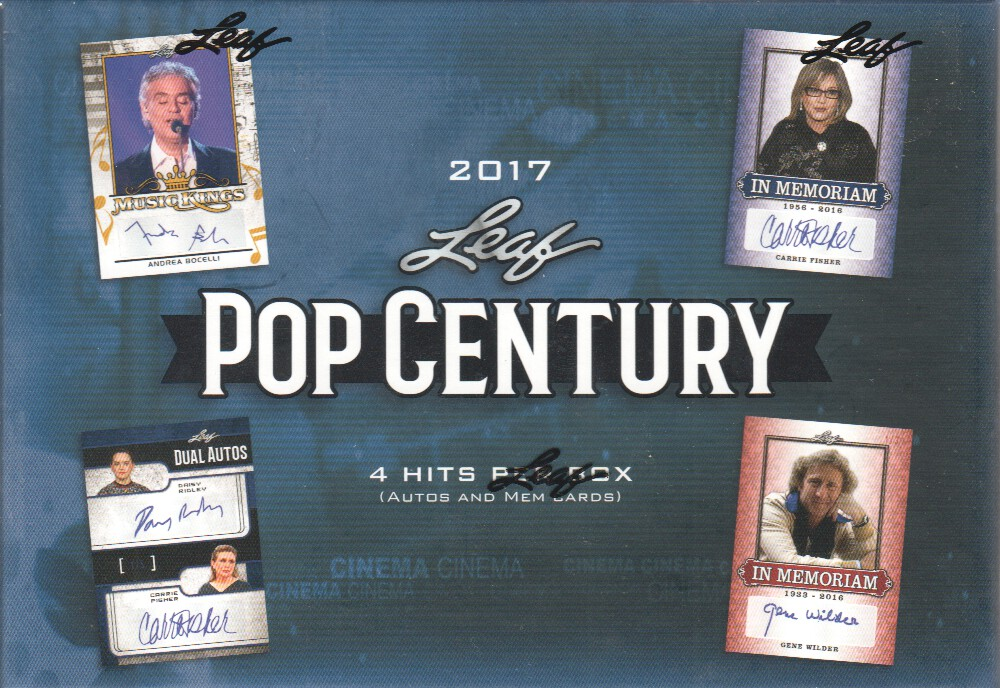 2017 Leaf Pop Century Trading Cards Hobby Box