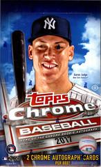 2017 Topps Chrome MLB Baseball Hobby Box