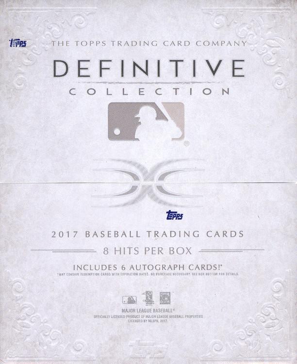 2017 Topps Definitive Collection MLB Baseball Hobby Box