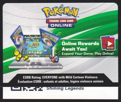 Shining Legends: Unused Booster Pack TCGO Code Card