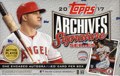 2017 Topps Archives Signatures Series Active Player Edition MLB Baseball Hobby Box
