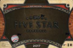 2017 Topps Five Star MLB Baseball Hobby Box