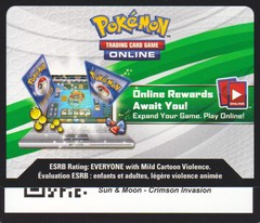 Crimson Invasion - Unused Booster Pack TCGO Code Card