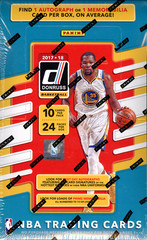2017-18 Panini Donruss NBA Basketball Hobby Box