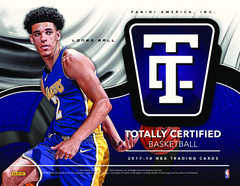 2017-18 Panini Totally Certified NBA Basketball Hobby Box