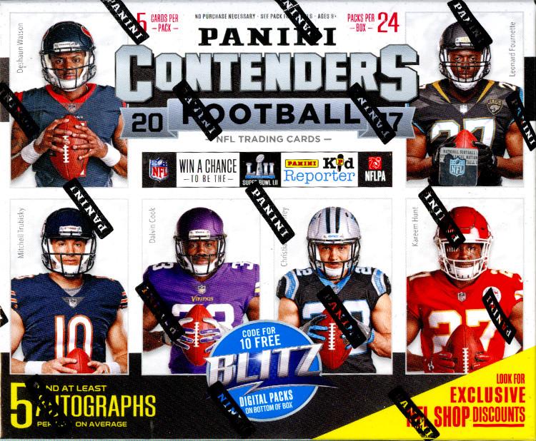 2017 Panini Contenders NFL Football Hobby Box