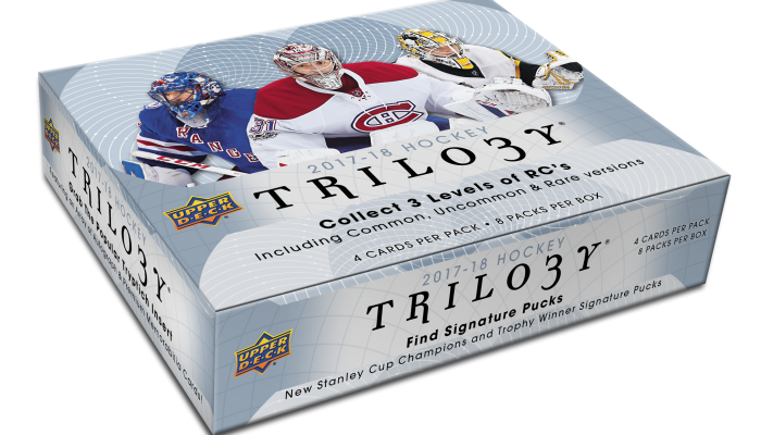 2017-18 Upper Deck Trilogy NHL Hockey Hobby Box