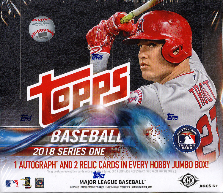 2018 Topps Series 1 MLB Baseball Jumbo Box