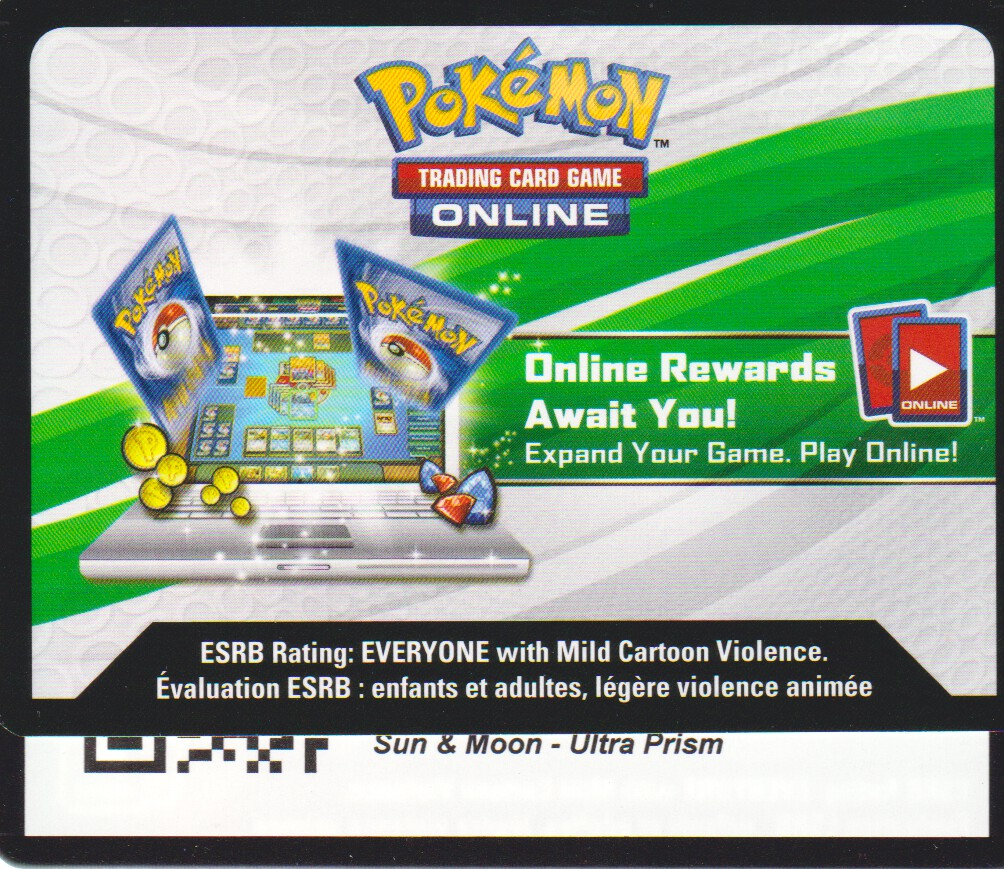 Ultra Prism - Unused Booster Pack TCGO Code Card