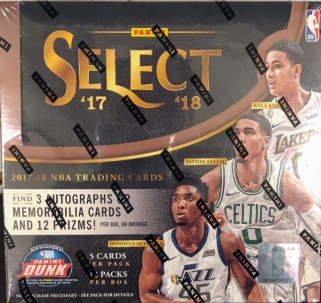 2017-18 Panini Select NBA Basketball Hobby Box
