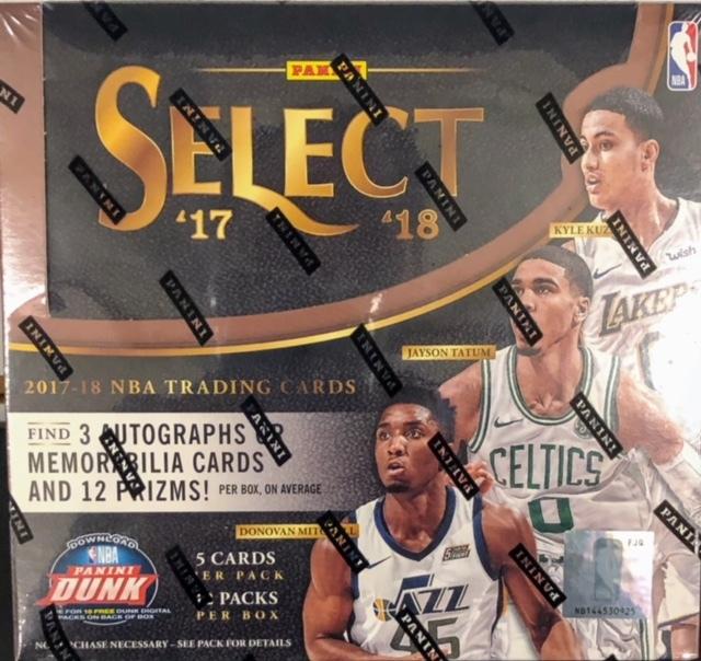 2017-18 Panini Select NBA Basketball Hobby Box