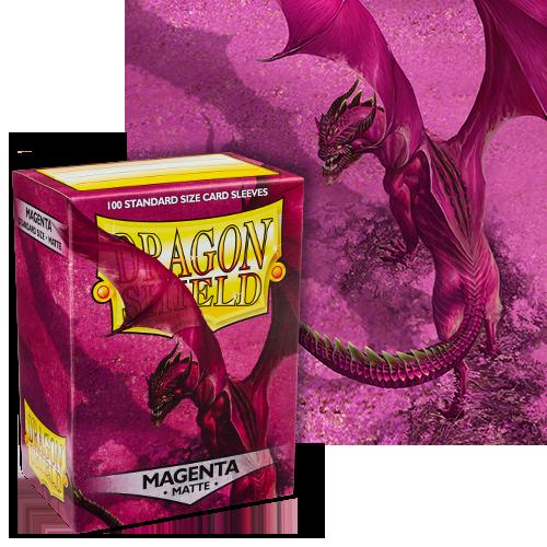 Dragon Shield Sleeves: Matte Magenta (Box Of 100)