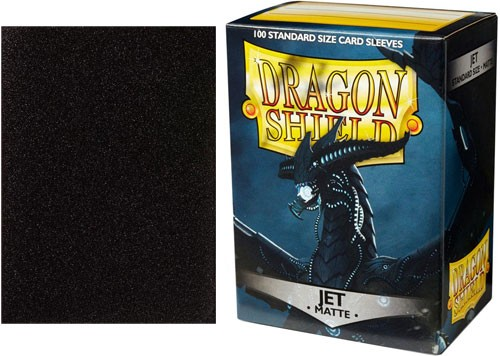 Dragon Shield Sleeves: Matte Jet (Box Of 100)
