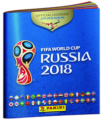 2018 Panini FIFA World Cup Russia Album with 3 sticker packs