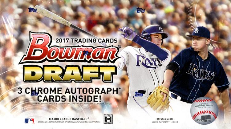2017 Bowman Draft MLB Baseball Jumbo Box