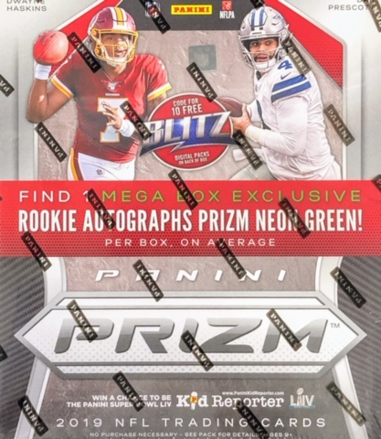 2019 Panini Prizm NFL Football Mega Box