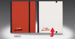 Ultra Pro 4 Pocket Flip Pro-Binder - Red/White