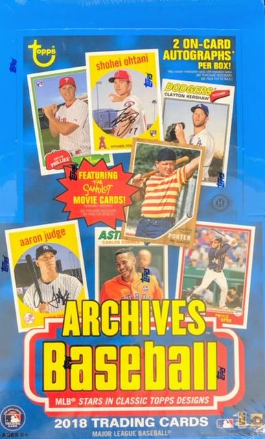 2018 Topps Archives MLB Baseball Hobby Box